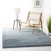 "Safavieh California Premium Shag Collection SG151-6060 Light Blue Area Rug (5'3"" x 7'6"")"