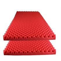 "Foamily Red Acoustic Foam Egg Crate Panel Studio Foam Wall Panel 48"" X 24"" X 2.5"" (2 Pack)"