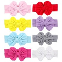 Baby Headbands Turban Knotted, Girl's Hairbands for Newborn,Toddler and Childrens (8pcs-cl1)