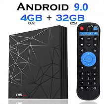 EVANPO Android 9.0 TV Box 4GB RAM 32 GB ROM Quad Core-A53 Processor 3D 4K/6K H265 Smart Media Player Set Top Box