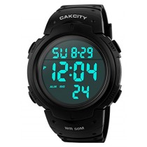Men's Digital Sports Watch LED Screen Large Face Military Watches and Waterproof Casual Luminous Stopwatch Alarm Simple Army Watch