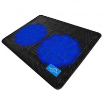 AICHESON Laptop Cooling Pad 2 1000RPM Fans Portable Computer Cooler, Blue LEDs, S007