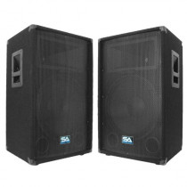 "Seismic Audio - Pair of 15"" PA DJ Speakers 700 Watts PRO Audio - Mains, Monitors, Bands, Karaoke, Churches, Weddings"