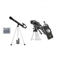 "Celestron PowerSeeker 50 AZ Refractor Telescope with Basic Smartphone Adapter 1.25"" Capture Your Discoveries"