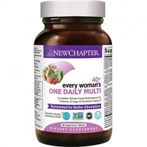 New Chapter Women's Multivitamin, Every Woman's One Daily 40+, Fermented with Probiotics + Vitamin D3 + B Vitamins + Organic Non-GMO Ingredients - 48 ct