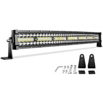 "LED Light Bar 29""(32"" with Mounting Bracket) Curved DWVO 390W Triple Row 35000LM Upgrade Chipset Led Work Light for Off Road Driving Fog Lamp IP68 WATERPROOF Spot & Flood Light Bars, 2 Year Warranty"