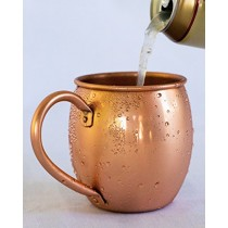 Solid Copper Moscow Mule Mug - 100% Pure Copper - Authentic Moscow Mule Mugs (16 oz Barrel)