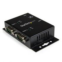 StarTech.com USB to Serial Adapter - 2 Port - Wall Mount - Din Rail Clips - Industrial - COM Port Retention - FTDI - DB9 (ICUSB2322I)