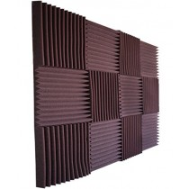"Foamily 12 Pack- All Burgundy Acoustic Panels Studio Foam Wedges 1"" X 12"" X 12"""