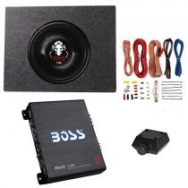 Boss 1200W Subwoofer + Q Power Truck Enclosure + Boss 1100W A/B Amplifier