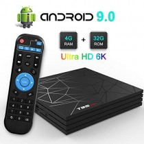 TV Box, TUREWELL T95 Max Android 9.0 TV Box Chip H6 Quad-core Cortex-A53 4GB RAM 32GB ROM Smart TV Box Support 3D 6K Ultra HD H.265 2.4GHz WiFi Ethernet HDMI [2019 Newest]
