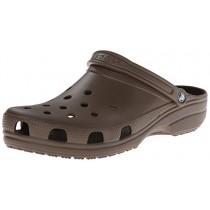 Crocs Men's and Women's Classic Clog, Comfort Slip On Casual Water Shoe, Lightweight, Chocolate, 14 US Women / 12 US Men