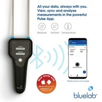 Bluelab Pulse Meter - Handheld Digital Soil Moisture Meter Measures Nutrient, Moisture & Temperature directly from the Plant Root Zone - Grow Healthier Plants with Fast, Accurate Measurements