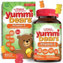 Yummi Bears Vitamin C Chewable Gummy Vitamin Supplement for Kids, 60 Count (Pack of 1)