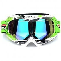 Polarized Sport Motorcycle Motocross Goggles ATV Racing Goggles Dirt Bike Tactical Riding Motorbike Goggle Glasses, Bendable Windproof Dustproof Scratch Resistant Protective Safety Glasses (Green)
