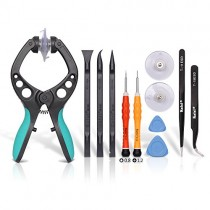 Kaisi LCD Screen Opening Toolkit Screen Suction Cup Pliers Repair Kit for Open Electronics Screen and Shell Compatible for Cellphone, iPhone, iPad, iPod, iMac, Tablets and More Screen, 11 Piece