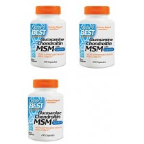 Doctor's Best, (3 Pack) Glucosamine Chondroitin MSM with OptiMSM, 240 Veggie Caps
