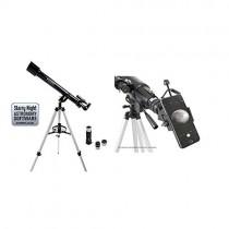 "Celestron 21041 60mm PowerSeeker AZ Telescope with Basic Smartphone Adapter 1.25"", Black"