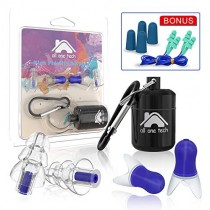 2 Pairs High Fidelity Ear Plugs Noise Reduction Earplugs for Concerts Musician Airplane, Noise Cancelling Ear Plugs in Working, Traveling & Sleeping, and Extra 4 Pairs Earplugs
