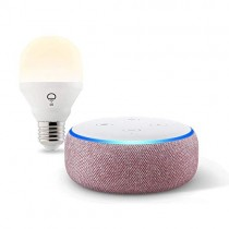 Echo Dot (3rd Gen) bundle with LIFX Wi-Fi Smart Light - Plum