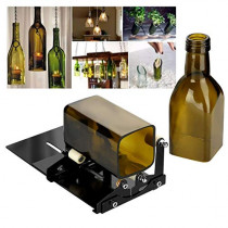 Yuehuam Glass Bottle Cutter Wine Bottles and Beer Bottles Cutter Adjustable Wine Beer Cutter Glass Bottle DIY Cutting Machine for Creative Round Oval Bottle Lamps Candle Holders