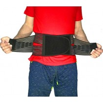 "Best Back Brace Lumbar Support Belt for Lower Back Pain | Men & Women Under Clothes Breathable Fabric Big Size | Relief disc Sciatica Scoliosis Surgery Pain | Dual Stretch Heavy Lift (L=35-39"")"
