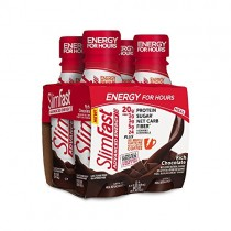 SlimFast Advanced Energy Rich Chocolate Shake - Ready to Drink Meal Replacement - 20g of Protein - 11 fl oz Bottle - 4 Count