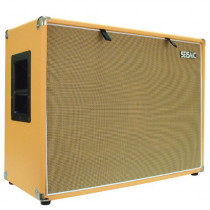 "Seismic Audio - 212 GUITAR SPEAKER CABINET EMPTY - 7 Ply Birch - 12"" Speakerless Cab - 2x12 - Orange Tolex - Wheat Cloth Grill - Front or Rear Loading Options"