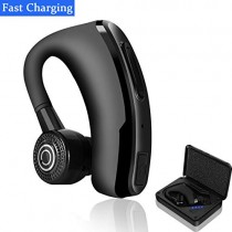 Bluetooth Headphones Wireless 4.2 Bluetooth Headset Ear Hooks with Quickly Charging Case Built-in Invisible Mic and Noise Canceling 12H Talktime Earphones for iPhone/Android More and Business/Driving
