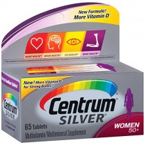 Centrum Silver Women Multivitamin / Multimineral Supplement Tablet, Vitamin D3, Age 50+, 65 Count (Pack of 1)