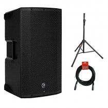 """Mackie Thump12BST Boosted -1300W 12"""" Advanced Powered Loudspeaker (Single) with SS-4420 Steel Speaker Stand and XLR-XLR Cable"""