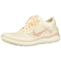 Nike 942839-802: Womens Free RN Flyknit 2018 Ice/Beige Sail/Pink Running Shoes (8.5 B(M) US Women)