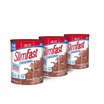 SlimFast Original Creamy Chocolate Meal Replacement Shake Mix - Weight Loss Powder - 12.83oz. - 14 servings - Pack of 3