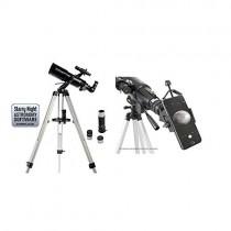 "Celestron 21087 PowerSeeker 80AZS Telescope (Black) with Basic Smartphone Adapter 1.25"", Black"
