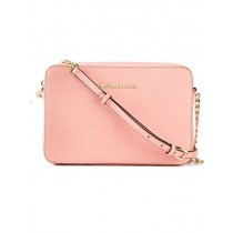 Michael Kors  Women's Jet Set Crossbody Leather Bag, Pale Pink, Large