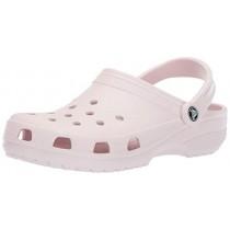 Crocs Men's and Women's Classic Clog, Comfort Slip On Casual Water Shoe, Lightweight, Barely Pink, 10 US Women / 8 US Men
