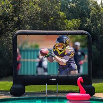 VIVOHOME 20ft Indoor and Outdoor Inflatable Blow up Mega Movie Projection Screen