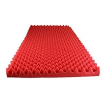 "Foamily Red Acoustic Foam Egg Crate Panel Studio Foam Wall Panel 48"" X 24"" X 2.5"" (1 Pack)"