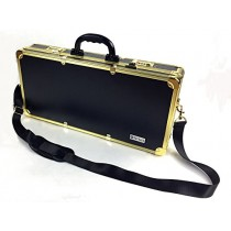 Barber box L22 xW3.9 xH10.6 inches golden color barber case