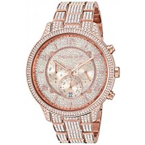 Michael Kors Women's Runway Quartz Watch with Stainless-Steel-Plated Strap, Rose Gold, 20 (Model: MK6635)