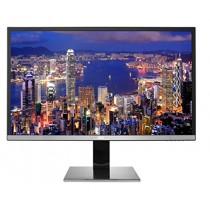 """AOC U3277PWQU 32"""" 4K UHD 3840x2160 Monitor, VA Panel, 1 Billion + Colors, HDMI/DisplayPort/DVI-D/VGA, HA Stand, Vesa, Speakers, Black/Silver"""