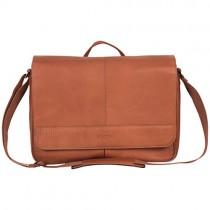 Kenneth Cole Reaction Laptop Messenger Bag, Cognac