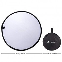 """Etekcity 24"""" (60cm) 5-in-1 Photography Reflector Light Reflectors for Photography Multi-Disc Photo Reflector Collapsible with Bag - Translucent, Silver, Gold, White and Black"""