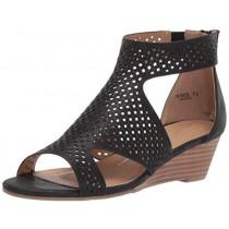 Report Women's Mackie Wedge Sandal, Black, 6 M US