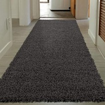 """Sweet Home Stores COZY2764-3X8 Runner Rug, 2'7"""" x 8', Charcoal Gray"""