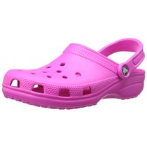 Crocs Men's and Women's Classic Clog, Comfort Slip On Casual Water Shoe, Lightweight, Neon Magenta, 6 US Women / 4 US Men