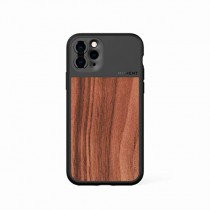 Moment Protective iPhone 11 Pro Max Case - Durable Wrist Strap Friendly Case for Photography and Camera Lovers (Walnut Wood)