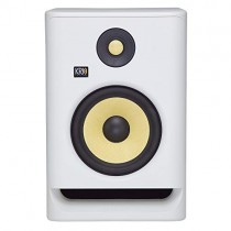 "KRK RP7 Rokit 7 G4 Professional Bi-Amp 7"" Powered Studio Monitor, White Noise"