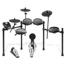 Alesis Drums Nitro Mesh Kit   Eight Piece All Mesh Electronic Drum Kit With Super Solid Aluminum Rack, 385 Sounds, 60 Play Along Tracks, Connection Cables, Drum Sticks & Drum Key included