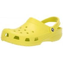 Crocs Men's and Women's Classic Clog, Comfort Slip On Casual Water Shoe, Lightweight, Citrus Green,12 US Women / 10 US Men